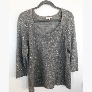 Eileen Fisher Metallic Waffle-Knit Sweater